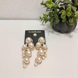 Bebe Pearl Dangling earrings